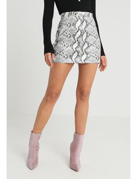 Snake Print Tab Skirt   Minigonna by Missguided Petite