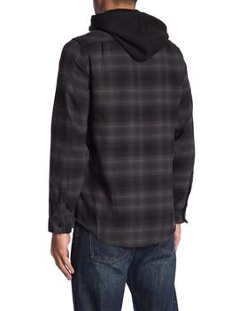 long-sleeve-flannel-hoodie by burnside