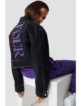 Cropped Oversized Denim Jacket Black by Na Kd