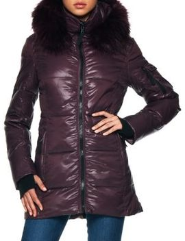 Faux Fur Quilted Puffer Jacket by S13
