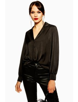 Long Sleeve Black Shirt by Topshop