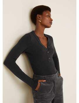 T Shirt Coton Boutons by Mango