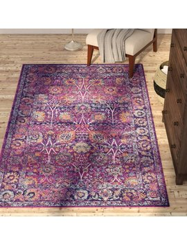 Bungalow Rose Peru Fuchsia Area Rug & Reviews by Bungalow Rose