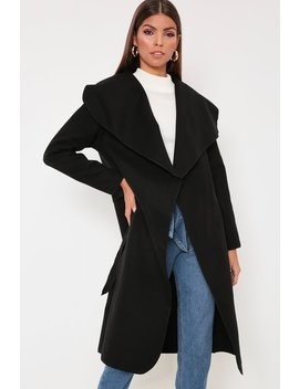 Black Oversized Waterfall Duster by I Saw It First
