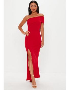Red One Shoulder Maxi Dress by Missguided