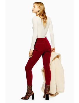 Berry Corduroy Joni Jeans by Topshop