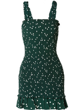 Del Mar Smocked Polka Dot Crepe Mini Dress by Faithfull The Brand