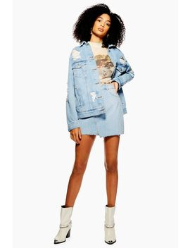 Ripped Denim Jacket by Topshop