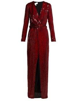 Vera Sequinned Silk Gown by Galvan