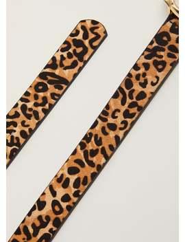 Cinto Leopardo Pele by Mango