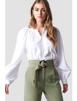 Buttoned Neckline Oversize Blouse by Na Kd Boho