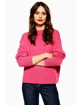 Cashmere Funnel Neck Jumper by Topshop