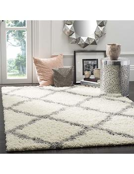 Safavieh Dallas Shag Collection Sgd257 F Ivory And Grey Area Rug (4' X 6') by Safavieh