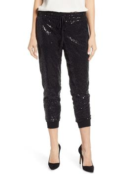 X Glam Squad Ashley Sequin Jogger Pants by Gibson