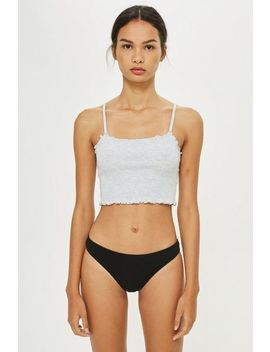 Ribbed Thong by Topshop