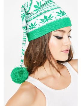 Fair Isle Plant Knit Hat by Knitty Kitty