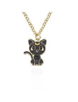 Anime Sailor Moon Cosplay Accessories Necklace Luna Artemis Pendant Kawaii Cat Alloy by Ali Express