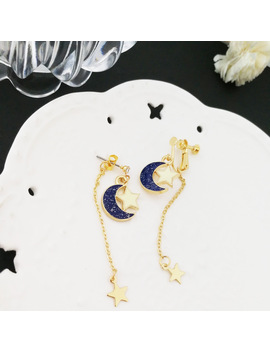 Anime Sailor Moon 25th Cosplay Earring Girl Blue Moon Star Eardrop Accessories Prop by Ali Express