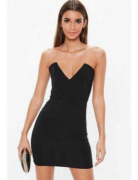 Black Crepe Bodycon Mini Dress by Missguided