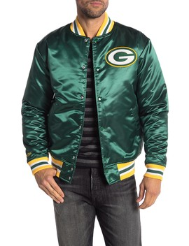 Nfl Green Bay Packers Satin Jacket by Mitchell & Ness
