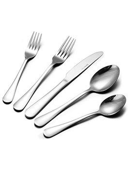 38 Piece Flatware Cutlery Set, Stainless Steel Silverware Set Mirror Polished With Knives Forks Spoons For Dessert & Dinner, Footek Modern Eating Utensils Tableware by Footek