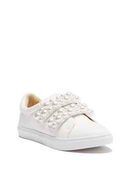 Tilie Pearl Embellished Sneaker by Betsey Johnson