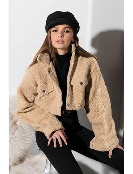 So Into You Cropped Faux Fur Teddy Jacket by Akira