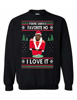 The Tshack You Are Santa's Favorite Hoe I Love It Kanye West Ugly Christmas Sweater by The Tshack
