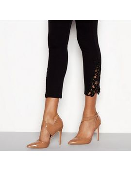 Faith   Tan Patent 'chyna' Stiletto Heel Pointed Shoes by Faith