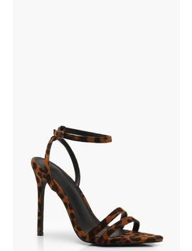 Leopard Pointed Toe 2 Part Heels by Boohoo