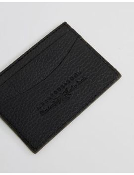 Barbour Grain Leather Card Holder In Black by Barbour