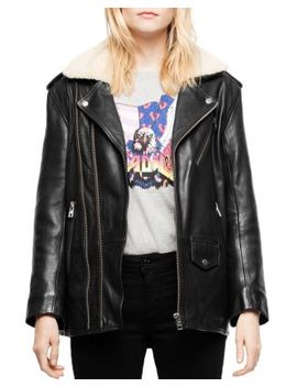 Leen Leather Moto Jacket by Zadig & Voltaire