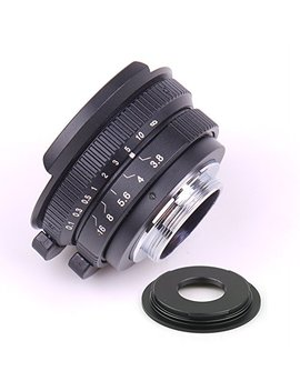 Pixco 8mm F3.8 Fish Eye Cctv Lens For C Mount Camera + 16mm C Mount Movie Lens To Sony E Mount Nex Camera Lens Adapter by Pixco