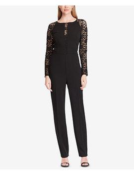 Lace Sleeve Jumpsuit by Lauren Ralph Lauren