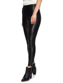 Moto Quilted Faux Leather Leggings by 1.State