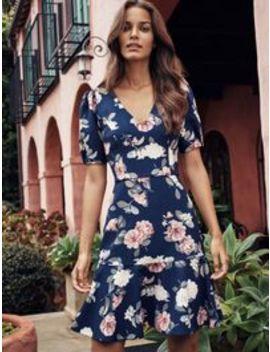 Kelsey Print Flippy Dress by Forever New
