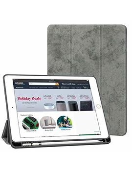 New I Pad 9.7 Case 2018/2017 With Pencil Holder,Flexible Soft Tpu 6th Generation Case Slim Fit Trifold Stand Folio Smart Cover For The New 9.7 Inch Apple I Pad 2018/2017 (Grey) by Zhisihui