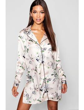 Floral Long Sleeve Button Through by Boohoo