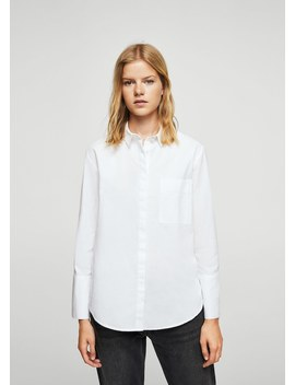 Koszula Bawełniana Z Perełkami by Mango