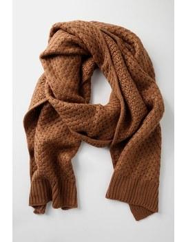 Hillbrooke Brown Crochet Knit Scarf by Lulus
