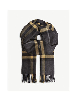 Classic Check Cashmere Scarf by Burberry