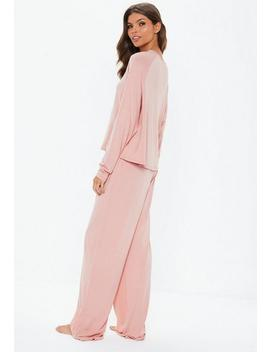 Pink I Can't Human Today Long Sleeve Pyjama Set by Missguided