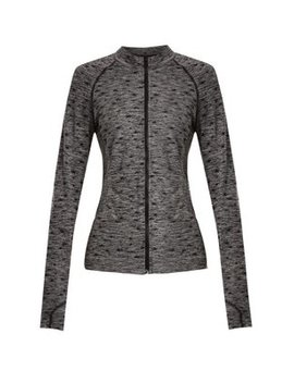 Star Jacquard Zip Through Performance Top by Pepper & Mayne