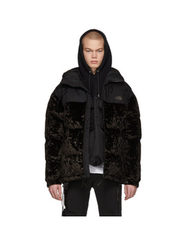 Black Down Velvet Urban Nuptse Jacket by The North Face Black Series