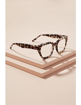 Rectangle Frame Tortoiseshell Effect Glasses by Anthropologie