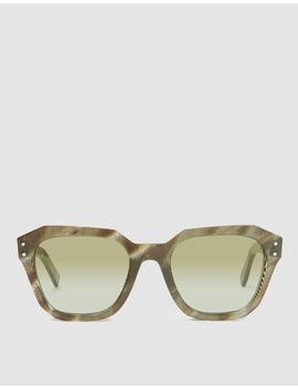 Pont Des Arts Sunglasses In Green Rhombus by Ahlem