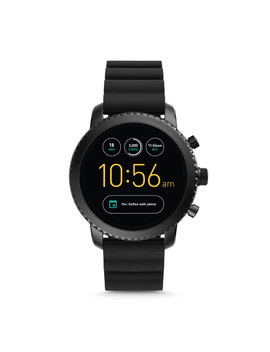 Refurbished Gen 3 Smartwatch   Explorist Black Silicone by Fossil