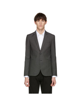 Black Check Buggy Slim Fit Blazer by Ps By Paul Smith
