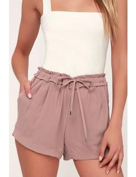 Jest Mauve Drawstring Shorts by Lulus