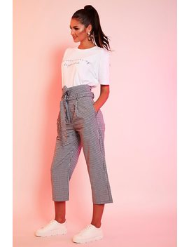 check-high-paperbag-waist-cropped-trousers by i-saw-it-first